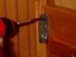 fasten bracket to frame and rail
