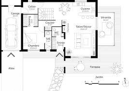 plan de maison avec cuisine ouverte plan maison en u ouvert m with plan en u plan de maison avec cuisine