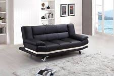 Leather Sofa Bed Black Leather Sofa Beds Ebay