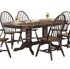 Two Tone Pedestal Dining Table Cline Two Tone Windsor Chair Set Of 2 For 199 94 Furnitureusa