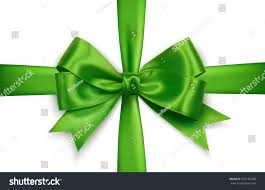 green gift bow green realistic vector cross gift stock vector 353750288