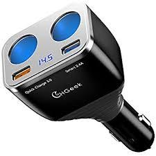 Usb Port For Car Dash Amazon Com Quick Charge 3 0 Car Charger Chgeek 80w 12v 24v