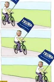 Donald Meme - donald trump riding a bicycle meme starecat com