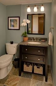 tiny half bathroom ideas white ceramic sink stainless faucet wall bathroom gray stained wooden small vanity brown laminated cabinet door grey stone decorating wall