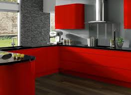 Extremely Hot Red Kitchen Cabinets Home Design Lover - Red lacquer kitchen cabinets