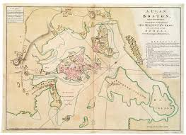 Colonial America 1776 Map by Richard Williams Maps The Siege Of Boston Journal Of The