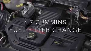 6 7 cummins fuel filter change dodge ram 2500 3500 youtube