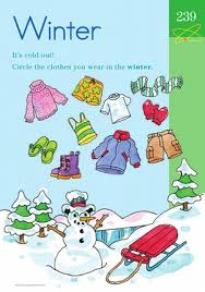 winter wear learning about the seasons worksheet education com