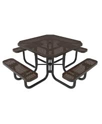 furniture nice grey and brown metal picnic tables with resin