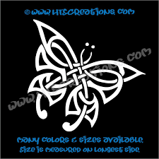 butterfly celtic religious church knot vinyl decal