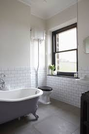 Grey And White Bathroom Tile Ideas Subway Tiles With Dark Grout Creates Either A Cool Industrial Vibe