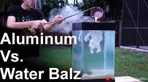 molten aluminum vs u0027spitballs u0027 so cool water balz youtube