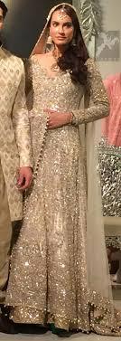anarkali wedding dress bridal dress 2017 beige anarkali pishwas lehenga