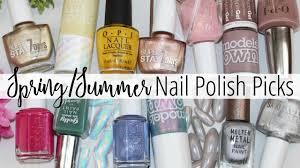top 10 spring summer nail polish picks u0026 trends 2017 youtube
