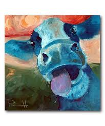 look at this lucy cow gallery wrapped canvas on zulily today
