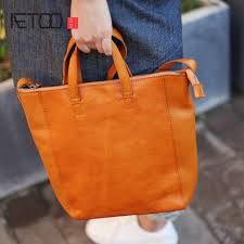 Handmade Leather Tote Bag - aetoo soft leather handbags handmade leather tote bag