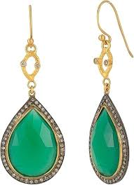 green earrings weinstock 18k yellow gold green agate diamond drop earrings