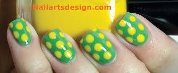 yellow polka dot nail art nail art designs