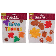 harvest window gel clings assorted