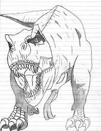 coloriages à imprimer animaux dinosaures t rex page 1