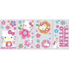 hello kitty home decor roommates rmk2173scs hello kitty floral boutique peel and stick