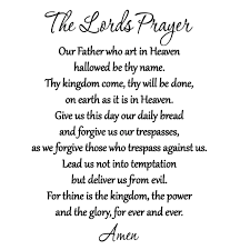 the lord u0027s prayer bible wall decal our father vinyl wall art