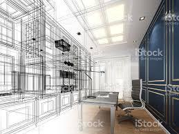 Room Sketch Sketch Design Of Working Room 3dwire Frame Render Stock Vector Art