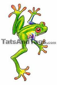tree frog temporary frog designs by custom tags