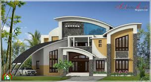 square feet large modern contemporary style home elevation house