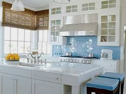 white kitchen cabinets with blue subway tile the classic of subway tile backsplash in the kitchen