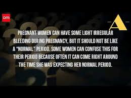 Light Period Pregnancy Can You Have A Period In The First Month Of Pregnancy Youtube