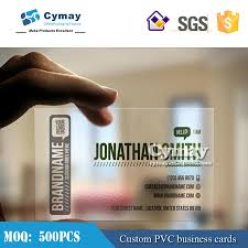 pvc transparent business card printing pvc business cards plastic