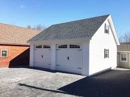2 Car Garage Built On Site Custom Amish Garages In Oneonta Ny Amish Barn Company