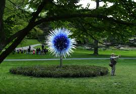 chihuly complements u2014 and sometimes competes with u2014 nature at new
