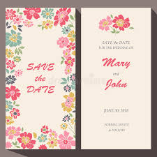 save the date birthday cards vector card template for save the date baby stock vector