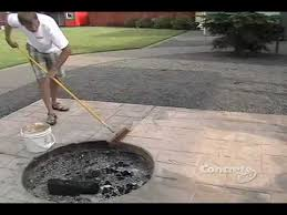 Colored Concrete Patio Pictures Restoring Color To A Stamped Concrete Patio Youtube