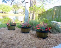 Large Tree Planters by Garden U0026 Outdoor Traditional Patio Design With Whiskey Barrel