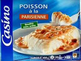 cuisiner poisson surgelé poisson à la parisienne surgelé casino 450 g
