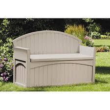 resin deck box bench patio outdoor garden plastic storage seat