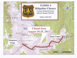 Fort Carson Map Carson National Forest Recreation