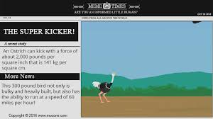 Ostrich Meme - how hard can an ostrich kick meme times mocomi kids