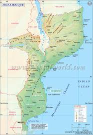 Africa Time Zone Map by Mozambique Map Map Of Mozambique