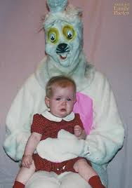 these old pictures of the easter bunny will terrify you