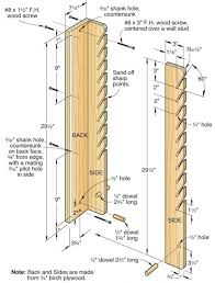 Wooden Storage Rack Plans by Protect And Serve Blade Rack