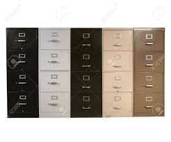vintage metal file cabinet funky collection of vintage metal file cabinets stock photo