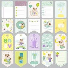 baby dog tags baby dog tags baby banners scrapbook labels cards vector