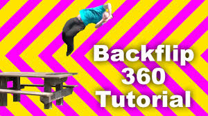 how to parkour backflip full 360 tutorial youtube