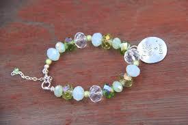 silver charm bead bracelet images Faith hope love silver charm on a green glass beads bracelet JPG