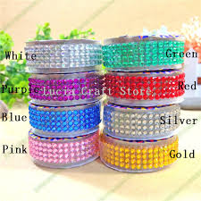 self adhesive ribbon lucia crafts 18mm 50cm colorful acrylic rhinestone self adhesive
