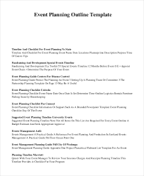 event outline template 7 free word pdf document downloads